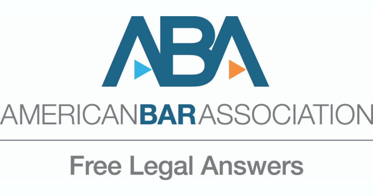 ABA Free Legal Answers Logo